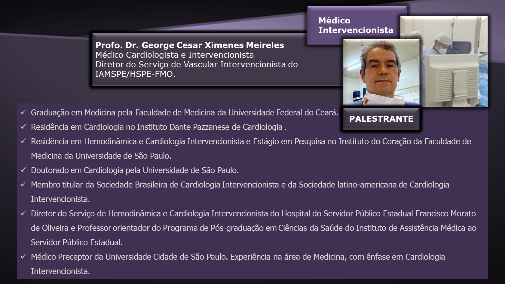 1 DR. GEORGE MEIRELES
